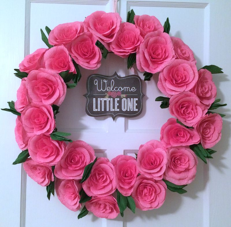 NurseryPaperFlowerWreath
